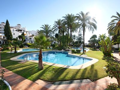 Photo for Exclusive apartment with view over the pool, situated in the most popular area!