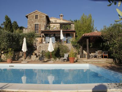 Photo for Todi - holiday home in hillside situation with pool, superb view to Valley Tiber