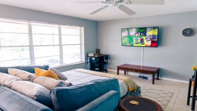 Photo for ✯King&Queen Beds✯ Quaint stand alone Apt with enclosed Patio *Close2Beach
