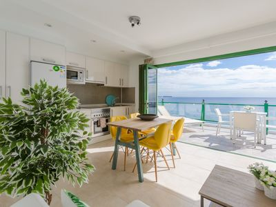 Photo for Sea Breeze; Walk to Beach, Sea Views, A/C, WiFi, Car Not Required
