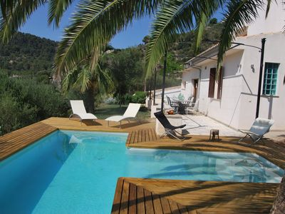 Photo for Modern house with spectacular views, private pool. 20 minutes from the beach