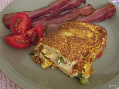 Omelet and Bacon