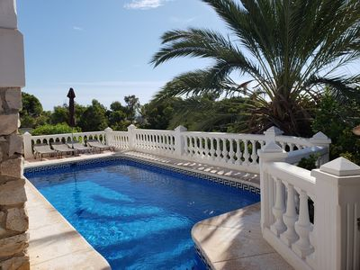 Photo for Big Solarium - sea view - pool - nice garden - sleep up to 7 -  private location
