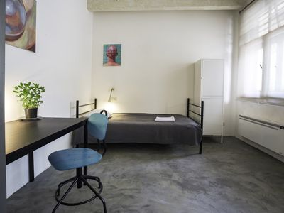 "Photo for ""John Densmore"" Room with 2 single beds in Loft Apartment"