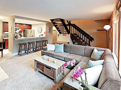 Photo for New Listing! Upscale Townhouse w/ Balcony & Pool, Hot Tub Access - Near Lake