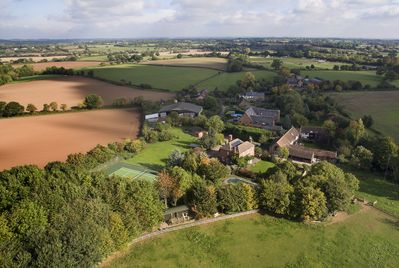 Aerial shot of Hop Pickers Rural Retreats