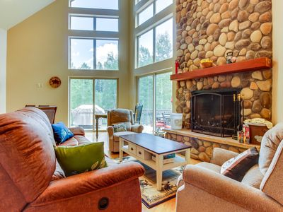 Photo for Aspen mountain home w/ wood fireplace & hot tub by Purgatory & Electra Lake