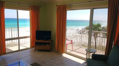 Photo for Aqua Villa #306 Gulf front pet-friendly 2BR/2BA with private balcony!