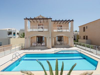 Photo for Modern Villa with Private Pool and Amazing Sea Views and just 100 meters to the Beach !