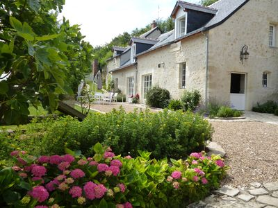 Photo for Le Clos de Venise, enchanting manor house surrounded by vineyards, near Vouvray