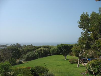 Our gated 3 acre estate and The Pacific Ocean