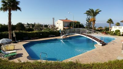 Photo for Penthouse Aptmt,  Stunning SeaView, Large Pool, Balcony, Wi-Fi, LiveTV