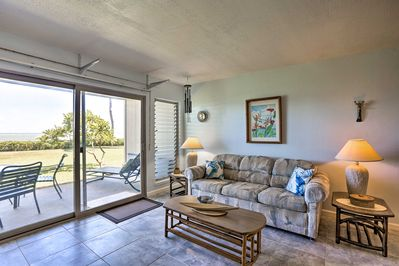 This single-floor unit has ample natural light.