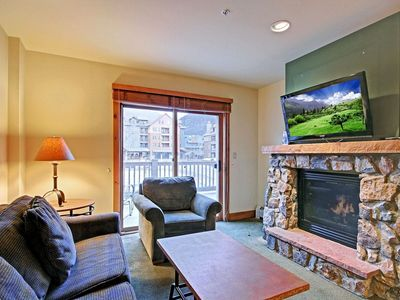 Photo for Oversized Unit - King Bed & Large Deck Overlooking Ice Rink with Slope Views!