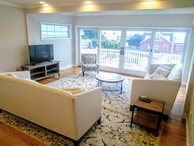 """Photo for Tides Newport - New! Large Beach Rental w/yard & expansive views! - """"Sea Side"""""""