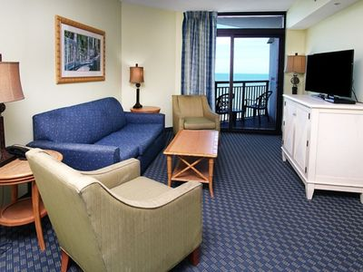 Caribbean Resort #1401, Spacious 3 BR Ocean Front Condo with I/O Pool, Hot Tub, Lazy River and Kiddie Pool