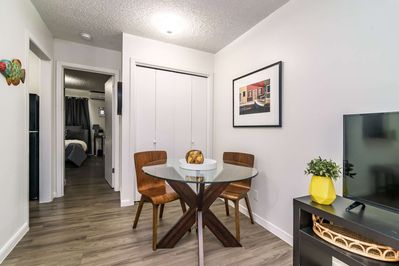 Small dining table - perfect for a quick meal before heading out to explore!