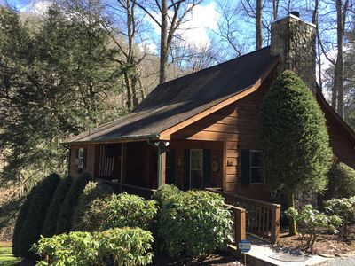 Photo for Creekside Family Cabin, hot tub, close to town!