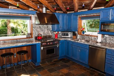 Fully stocked chef's kitchen. Wolf Stove, All appliances, Solid Granite counters
