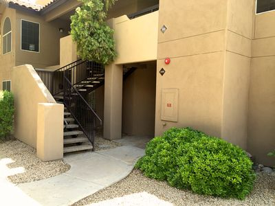 Entrance to our first floor unit. NO steps.