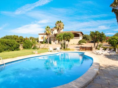 Photo for Charming Villa with Pool near Great Es Trenc Beach