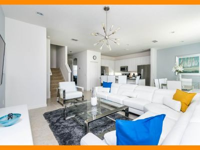 Photo for Solterra Resort 102 - Modern villa with private pool & game room near Disney