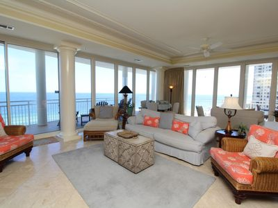 Photo for La Playa 703 - Beach Front Views with Wrap-Around Terrace!