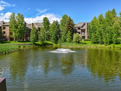 Photo for Bright condo w/access to shared (seasonal) pool, hot tub, golf and more!