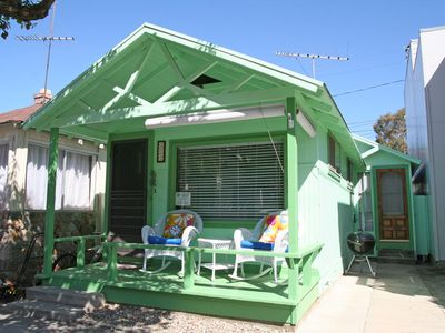 Photo for Charming, Cozy Beach Cottage, Front Porch, 2 Blocks to Beach, WIFI - 322 Sumner