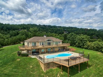 Mountaintop Luxury Home With Amazing Mountain Views! Private, heated pool!