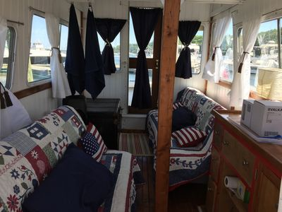 Photo for WATERFRONT - Cozy and Charming Floating Studio - Houseboat ALANA