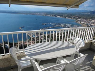 Photo for Large apartment located on the hill Puigrom in quiet area. Panoramic view