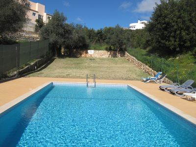 Shared pool and grass area