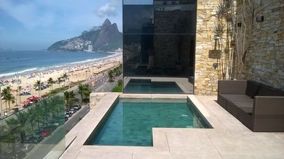 Photo for Beach-front pool paradise penthouse in Ipanema