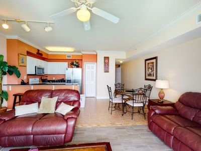Photo for Bright gulf-front condo w/ on-site lagoon pools, hot tubs & beach service