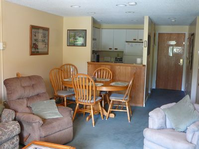 Photo for White Mountains NH Resort Condo with Kitchen - 2 baths - Indoor Pool - Sleeps 7