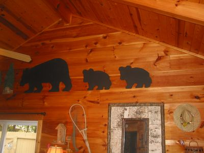 living room bears