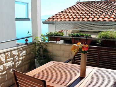 Photo for Two bedroom apartment with terrace and sea view Živogošće - Porat, Makarska (A-4878-c)