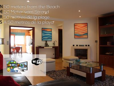 Photo for Nazare - 3-bedroom apartment, 50 meters from the beach! FREE WIFI