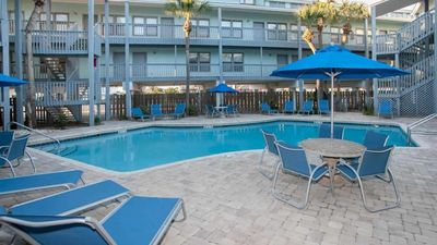 Photo for Beachside complex, our unit overlooks the pool , still only steps to the beach!