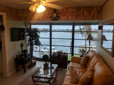 Photo for Stunning water views from this beautiful Apollo Beach condo with a dock