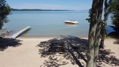 Photo for SOUTH TORCH LAKE CHALET-  Huge Sandy Beach for Enjoying the Water