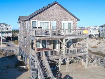 Photo for Amazing Oceanfront Views in Rodanthe w/ Hot Tub, Game Rm + Wet Bar, Dog-Friendly