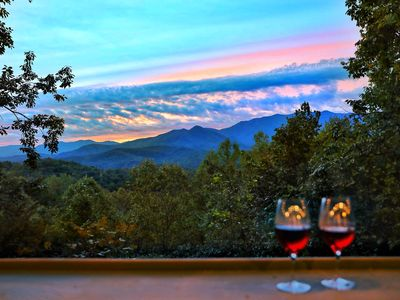 Photo for Newly Remodeled! 2 Bed Suite Luxury Cabin - Gorgeous Mt Views Near Downtown