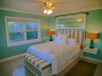 Luxurious comfort and 4 large windows to bring in the breeze!  Temper-pedic bed!