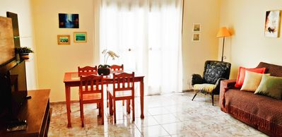 Photo for Large and cozy apartment and great location in front of the beach Boqueirão
