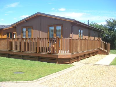 Photo for 2 Bedroom Luxury Lodge at Lazy Otter