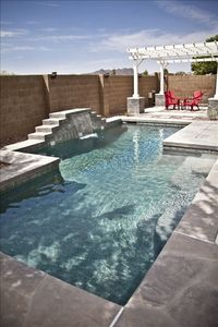 Your private pool (Not Heated) with a Waterfall