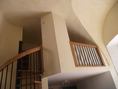 Mezzanine Sleeping Area luxury ski/mountain apartment in grounds - homeaway les cabannes
