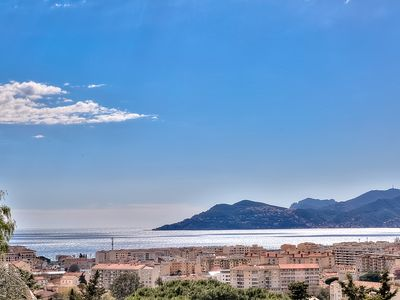 Photo for Villa with pool and sea view on the heights of Cannes